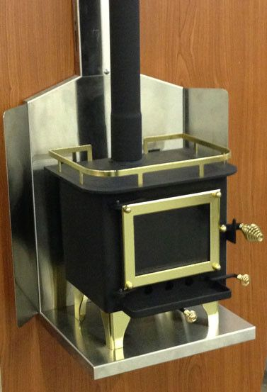 Cubic Mini Woodstove Grizzly With Wall Mount Mini Wood