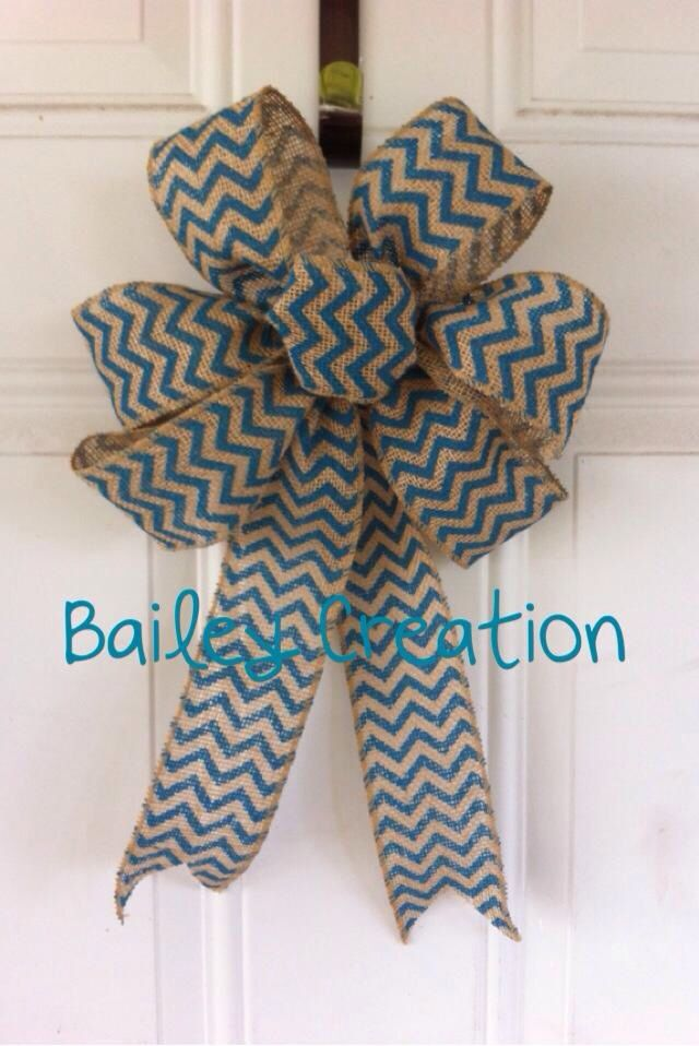 Chevron burlap bows!!!  #baileycreation #bows