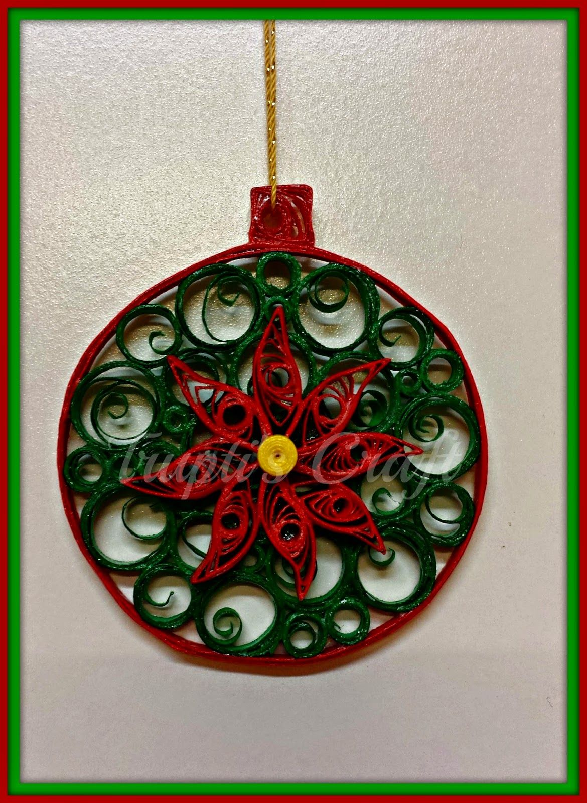 Paper Quilled Christmas Baubles Filigrana Pinterest Christmas