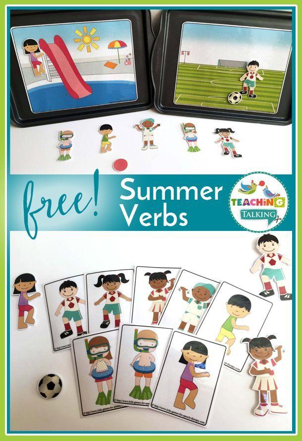 Preschool Summer Verbs Freebie