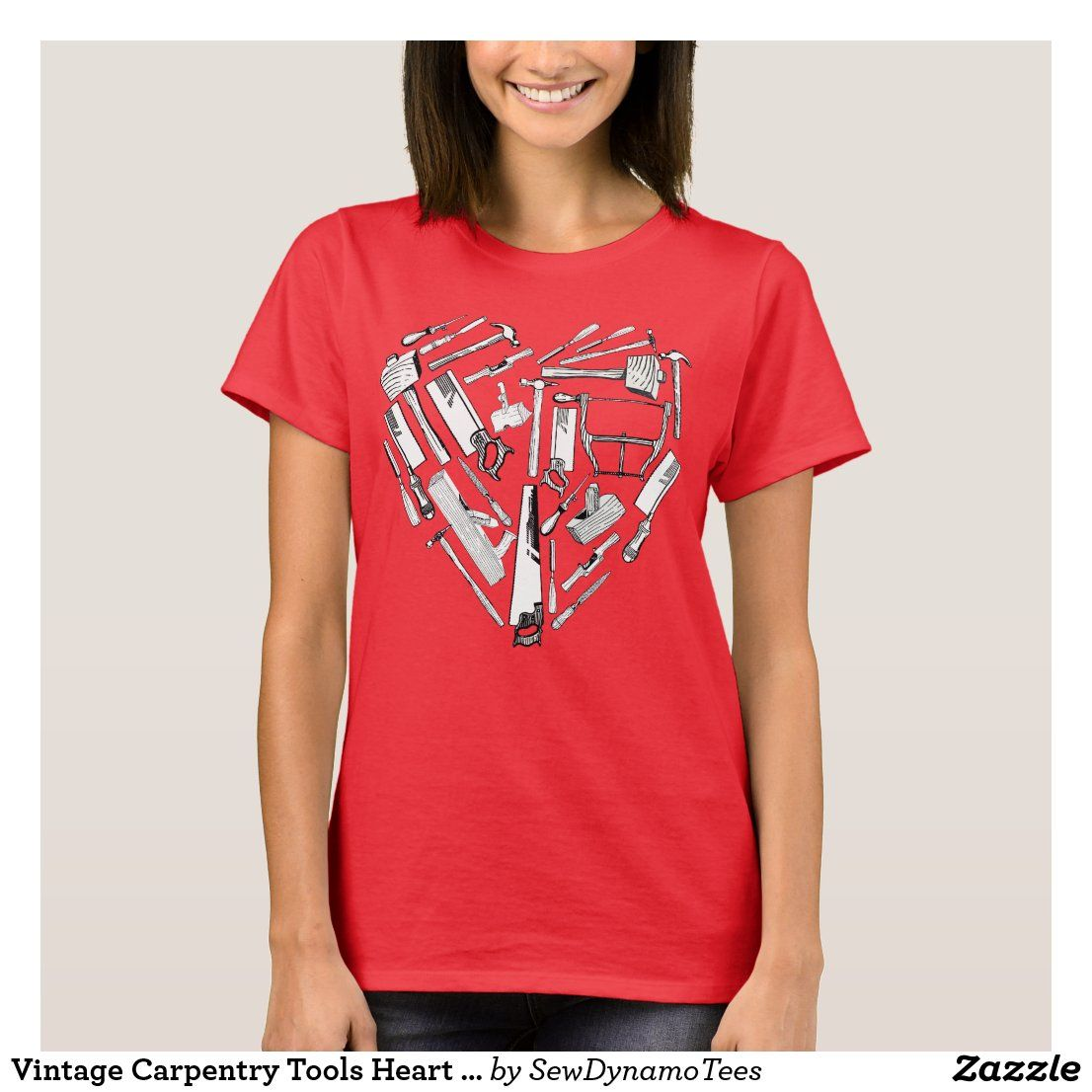 Vintage Carpentry Tools Heart Tshirt Zazzle Co Uk In 2020 Carpentry Tools Carpentry Gifts Carpentry