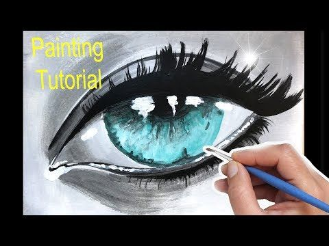 realistic eye painting for beginners how to paint in