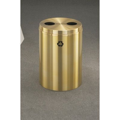 Glaro, Inc. RecyclePro 33-Gal Dual Stream Multi Compartment Recycling Bin Finish: Satin Brass