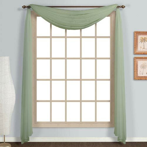 37 Off Monte Carlo Sage 144 X 59 In Topper By United Curtain Co We Have A Winner Voile Program Has The Curtains Of Character For Any Window