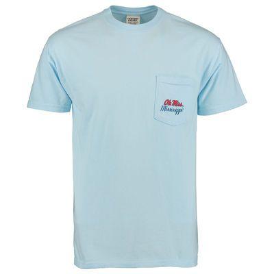 Men S Light Blue Ole Miss Rebels The South Comfort Colors T Shirt Comfort Colors Tshirt Colors Ole Miss