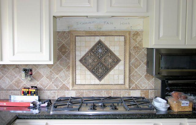 Kitchen Backsplash Centerpiece Set The 4 Quot Tumbled