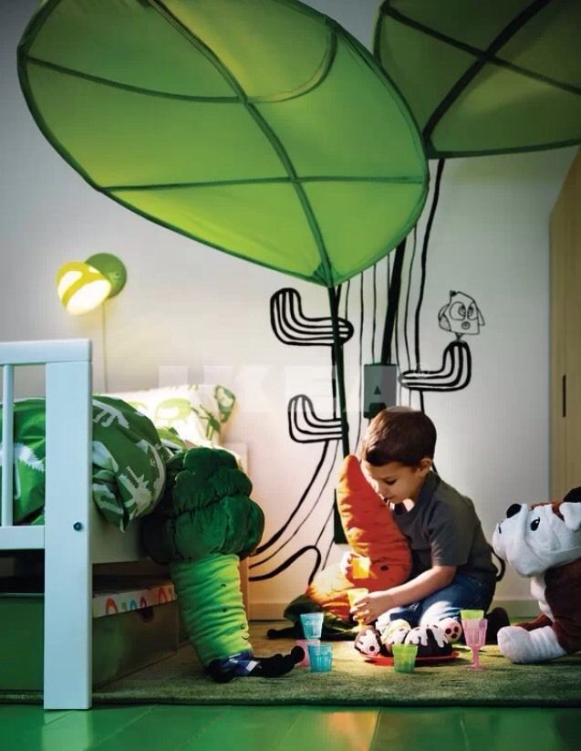 1 Ikea Lova Lova Green Leaf Canopy Fun Children Room Kids Bedroom Wall Bed New Ikea Ikea Kids Room Ikea Kids Kids Bed Canopy
