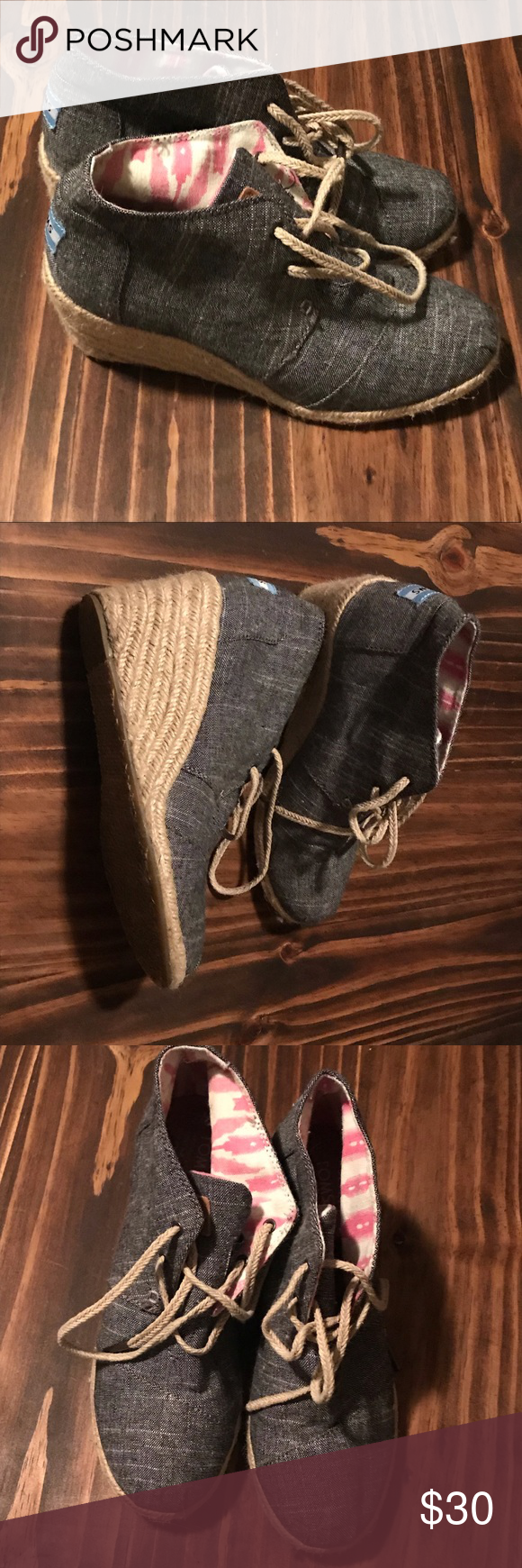 Women's size 7 Toms wedges. Women's size 7 Toms wedges. Smoke free home. The real shoes are little lighter color in person. Toms Shoes Wedges #tomwedges Women's size 7 Toms wedges. Women's size 7 Toms wedges. Smoke free home. The real shoes are little lighter color in person. Toms Shoes Wedges #tomwedges