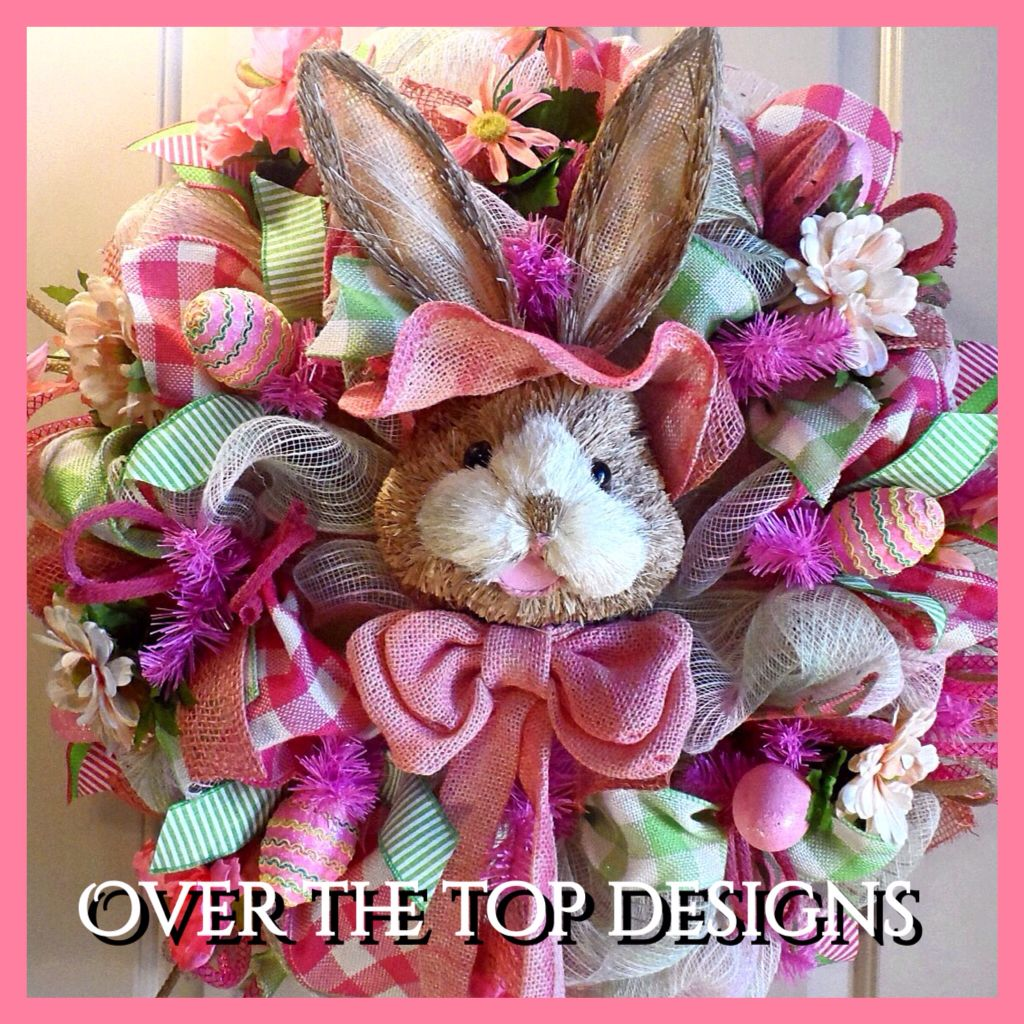 Gorgeous Pink Bunny Easter Wreath From Facebook