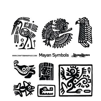 Vector Gratis De Simbolos Mayas Simbolos Mayas Simbolos Aztecas Dibujos Precolombinos