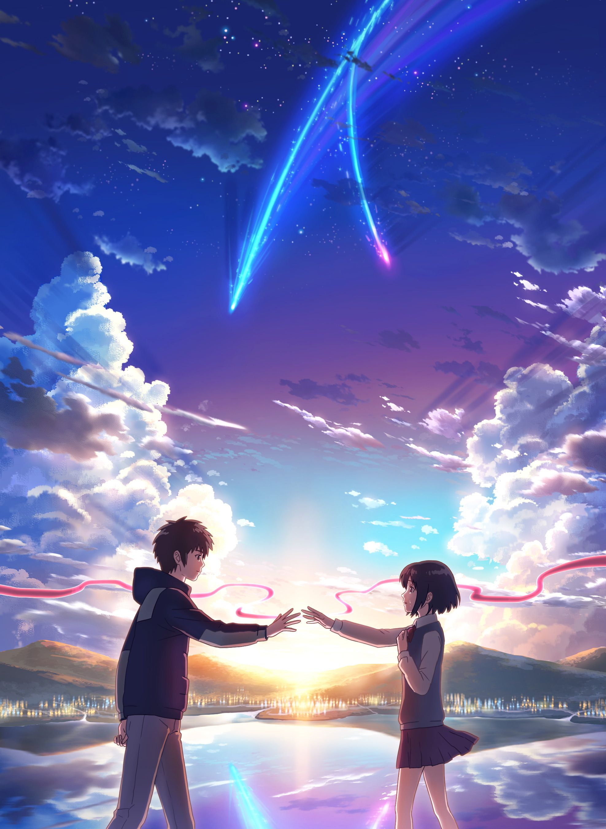 """Miyamizu Mitsuha"" ""Tachibana Taki"" Resimler, Anime"
