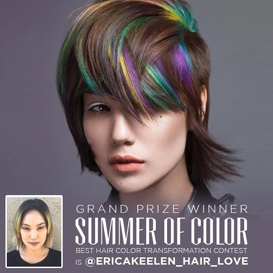KILLER Styling Skills by @ericakeelen_hair_love the winner of the Summer of Color Contest by @colortrak Erica is will be shooting in NYC with @modernsalon way to go!