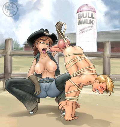 Femdom men being ballbusted in cartoons