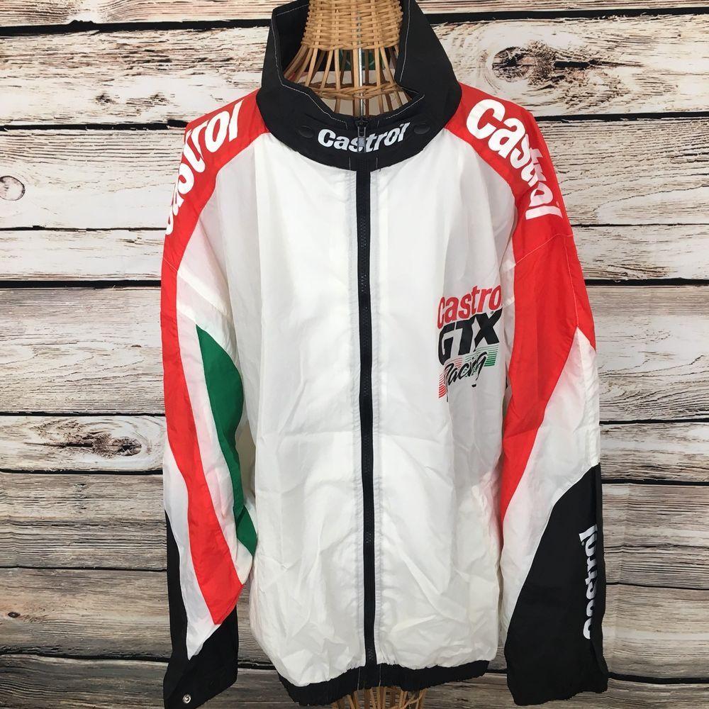 dc18d74db Details about Vintage Castrol GTX Racing Windbreaker Jacket Nylon ...