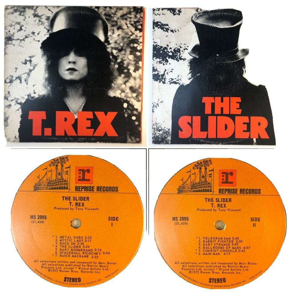 T Rex The Slider Lp Reprise Ms 2095 Vinyl Vg Glamhairmetalexperimentalrock In 2020 Experimental Rock Vinyl Glam Hair
