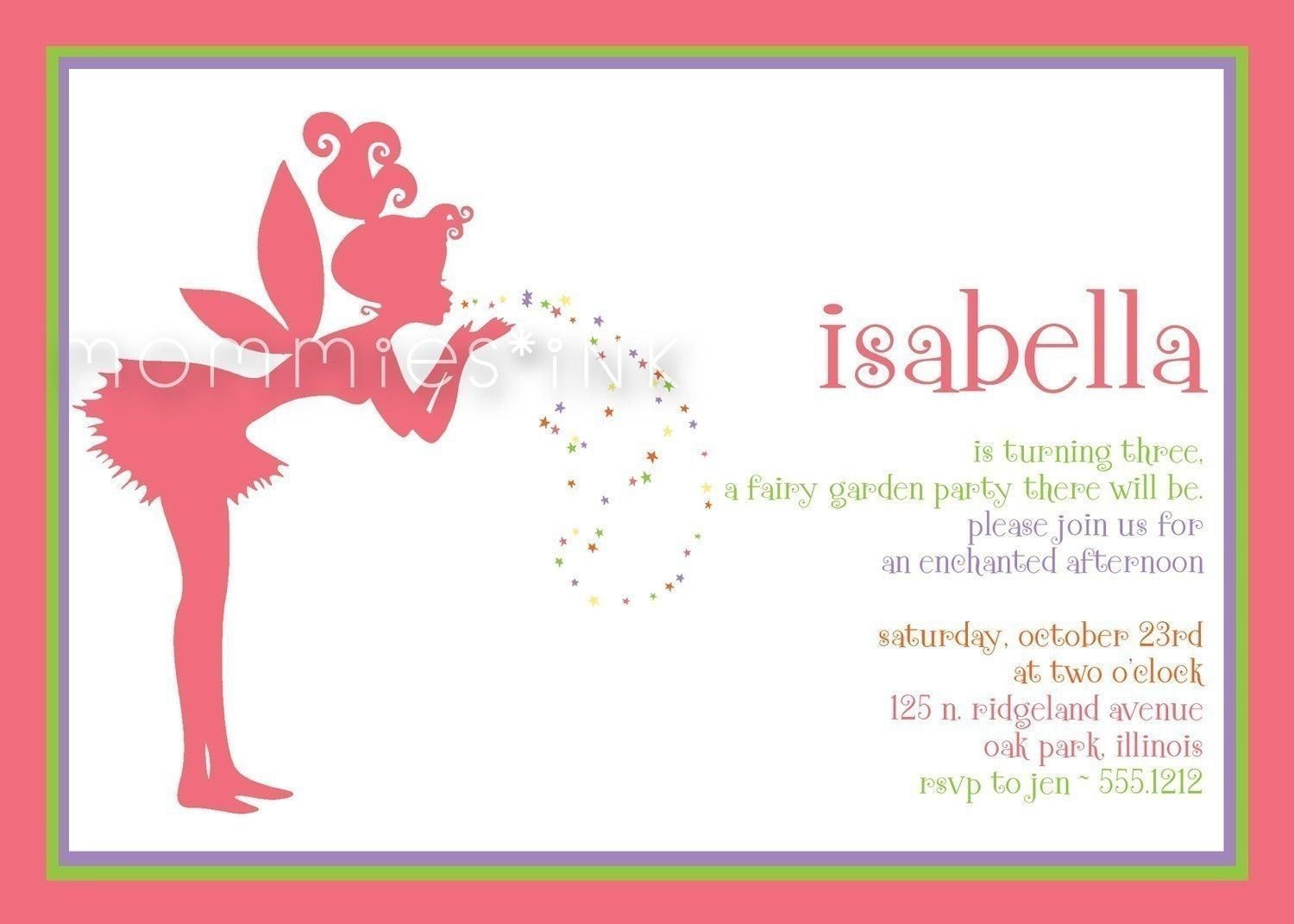 Fairy Garden Birthday Party Invitation - PRINTABLE INVITATION ...