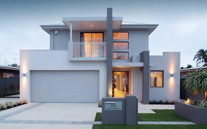 Modern Elegant White Villa House Geometric Architecture