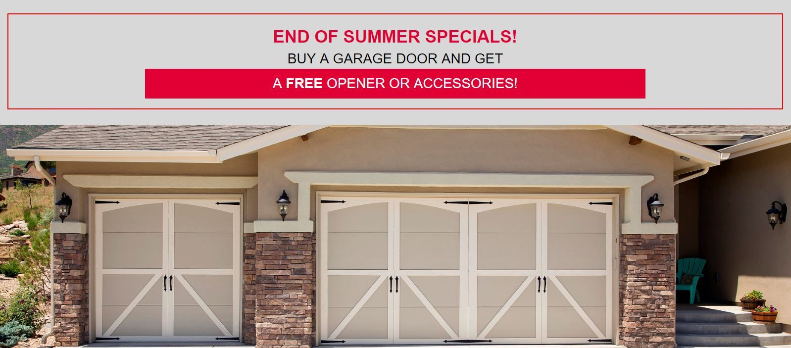 Overhead Door Summer Sale Is Not Over Buy A Garage Garage Doors Residential Garage Doors