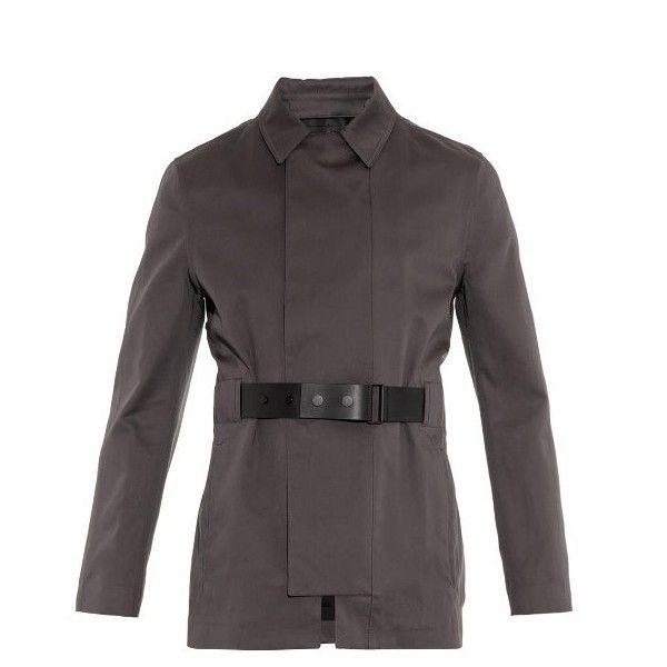 Balenciaga Leather belted trench coat ($2,795) ❤ liked on Polyvore featuring men's fashion, men's clothing, men's outerwear, men's coats, grey, mens trench coat, mens leather coats, mens belted trench coat, mens grey coat and mens leather trench coat