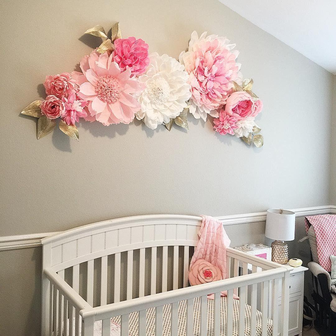 Paper Wall Flowers Baby Ideas Flower Nursery Baby Room Decor