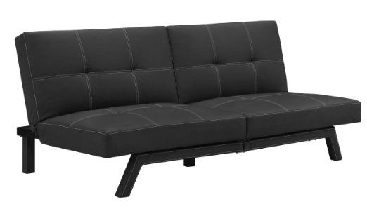 Amazon Com Dhp Delaney Splitback Futon Black Futon Sofa Bed