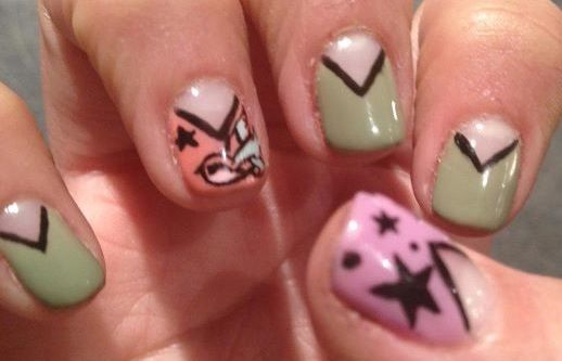 My latest nail art.