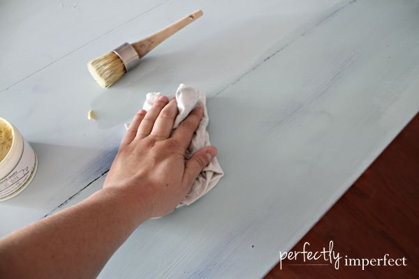how to wax furniture   furniture waxing tips   perfectly imperfect