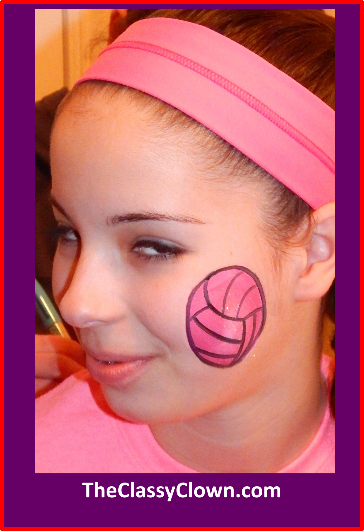 Valentine's Day volleyball face painting ideas.. Chicago