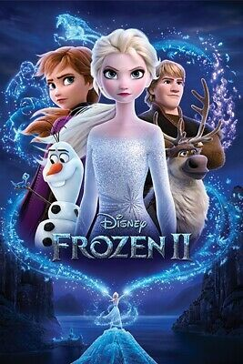 Frozen Disney Movie Poster 24 x 36 inches Anna and Elsa