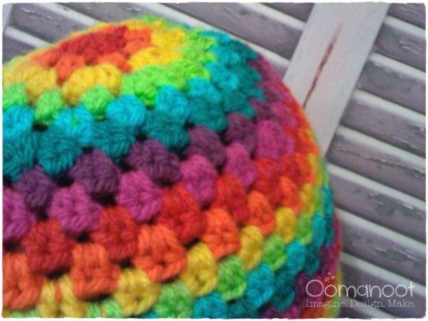 Rainbow Granny Hat Tutorial - free crochet pattern  4f148fe5dd4