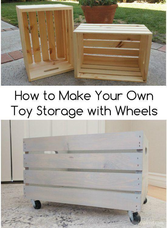 Make Your Own DIY Toy Storage - DIY Inspired