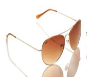 2d021dba761f Reebok Aviator Brown Golden Frame Sunglass 100% Original, Cool, Stylish,  100% UV protection aviator style sunglasses from the Reebok brand at never  before ...