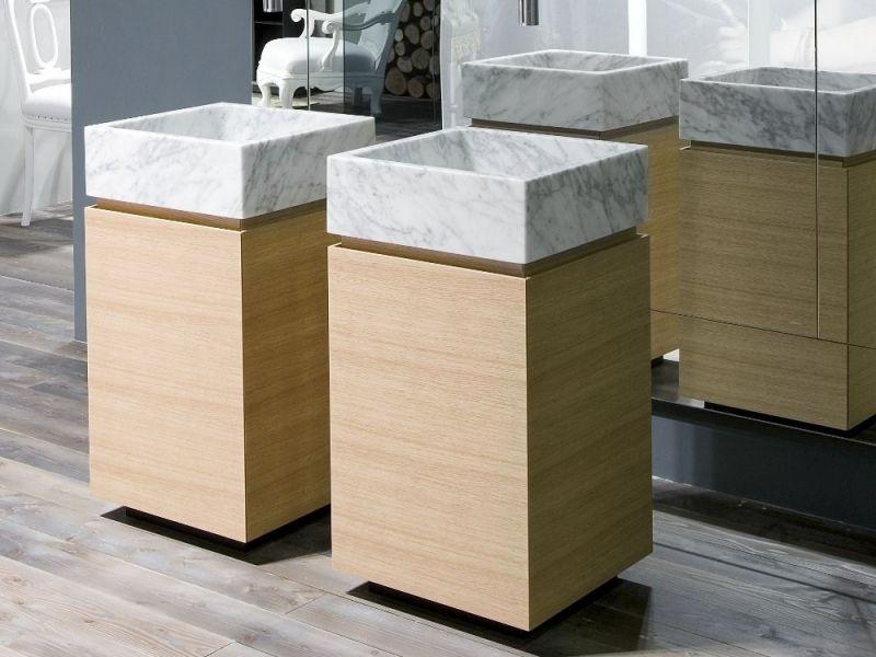 Badezimmermöbel aus Holz \u2013 50 Ideen für Badschrank, Waschtisch und