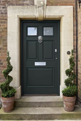 Pin By Elizabeth Brutti On Home Green Front Doors Painted Front Doors Front Door Paint Colors