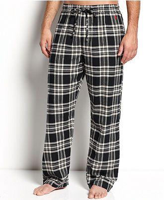 1a9e93d9 Polo Ralph Lauren Sleepwear, Plaid Flannel Pajama Pants - Mens Pajamas &  Robes - Macy's