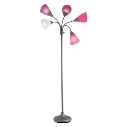 Room+Essentials+5-Head+Floor+Lamp+-+Pink+(Includes - Room+Essentials+5-Head+Floor+Lamp+-+Pink+(Includes+CFL+Bulb) I