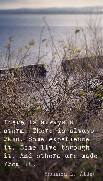 There is always a storm… #harbour #harbor #nature #quote