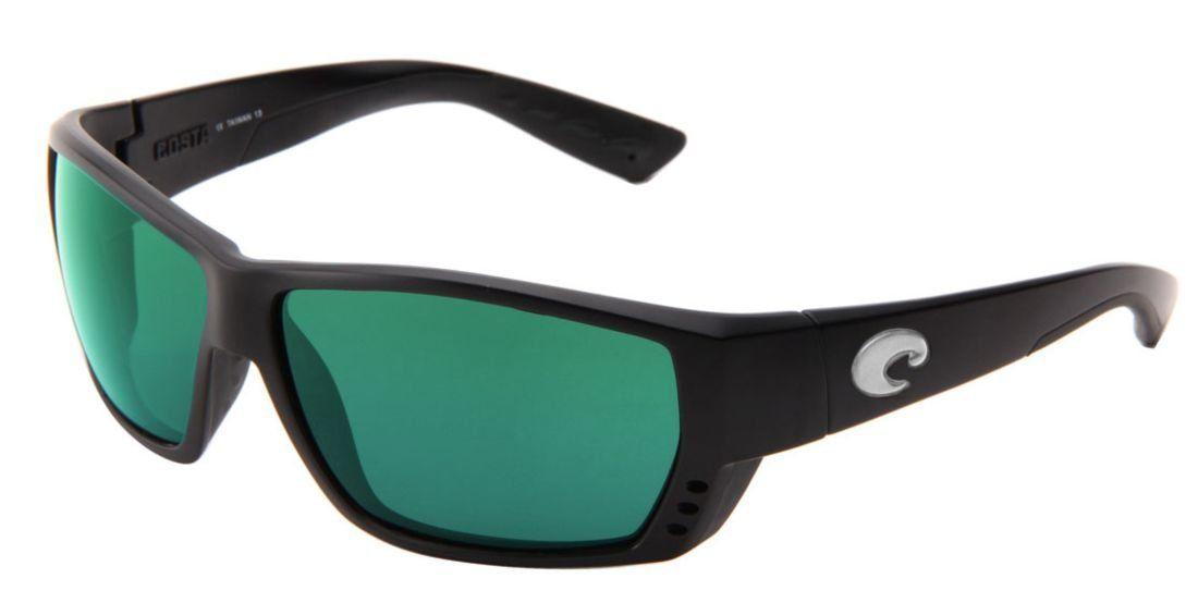 eb9df1cac56 Costa Del Mar Sunglasses - Tuna Alley- Plastic   Frame  Black Lens  Polarized  Green Mirror Polycarbonate. Frame Material  Plastic. Lens Material  Plastic.