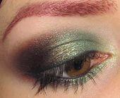 Photo of Glitter is my crack…: Green and Blackened Bronze eye Makeup Look,  #Blackened #Bronze #crac…