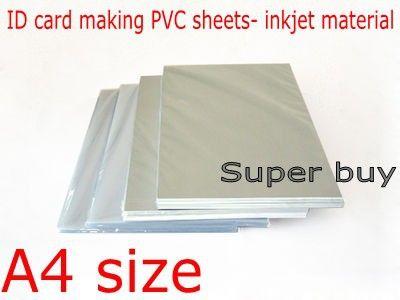 Blank Inkjet print PVC sheet(white) for PVC ID card making ,student