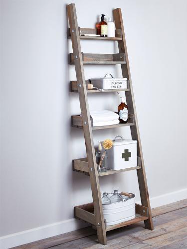 Rustic Wooden Ladder Shelf Slim Wooden Ladder Shelf Bathroom Ladder Shelf Bathroom Ladder
