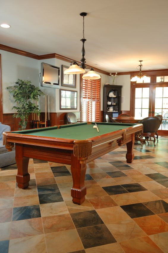 Basement Game Room Designs: Daylight Basement Remodeled To A Game Room. #basement