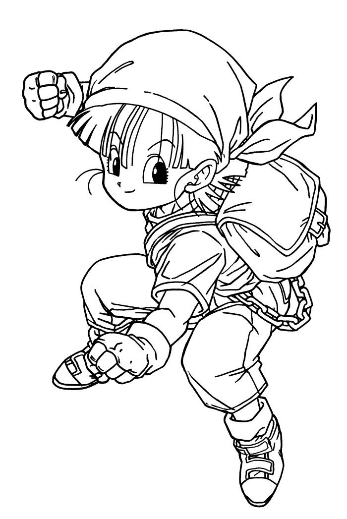 Dragon Ball Z Coloring Book Online : Pan dragon ball coloring pages page pinterest