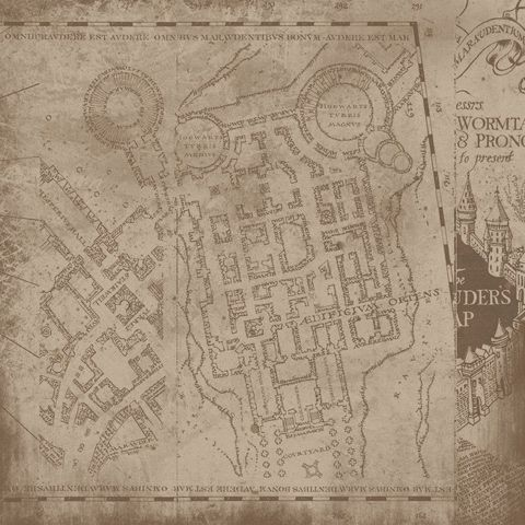 Harry Potter Marauder Map 12x12 Scrapbooking Paper Scrapbook