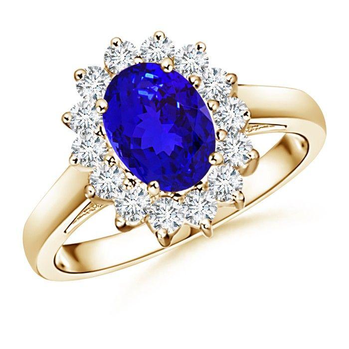 Angara Blue Tanzanite Ring in 14k White Gold 7IJvq6by