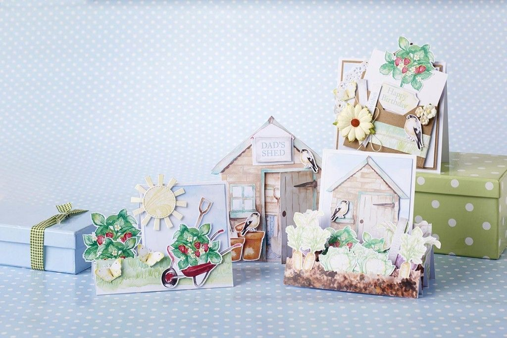 Free Card Making Printables Part - 46: Use These Free Printable Papers To Make Cards To Suit Gardeners Who Love To  Spend Time Outdoors In The Fresh Air.