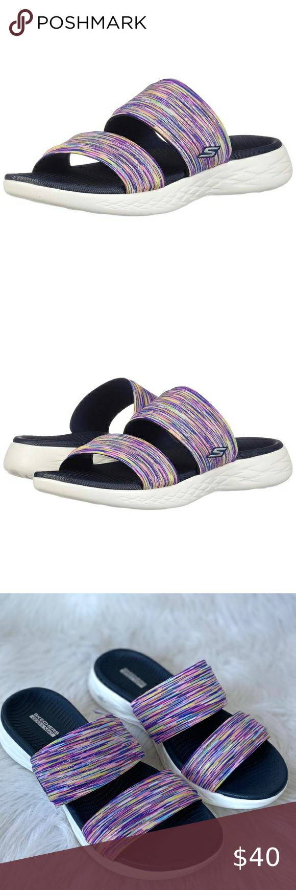 💖 NEW Skechers Goga Mat Slides Sandals