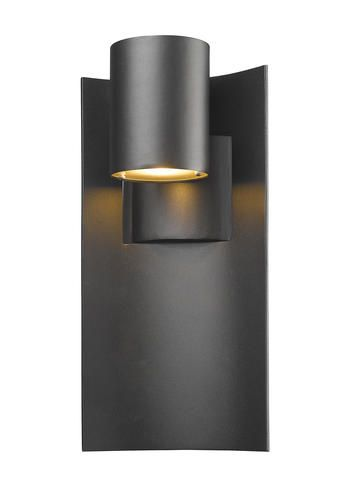 Dabney 1 Light Black Led Outdoor Wall Light With Sand Blasted Glass At Menards Outdoor Wall Lighting Wall Lights Outdoor Walls