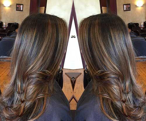 Highlight Dark Hair Long Hairstyles 2015 Amp Long Haircuts