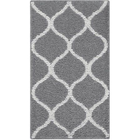 Mainstays Sheridan Area Rug Gray And Teal 41 For 5x7 With